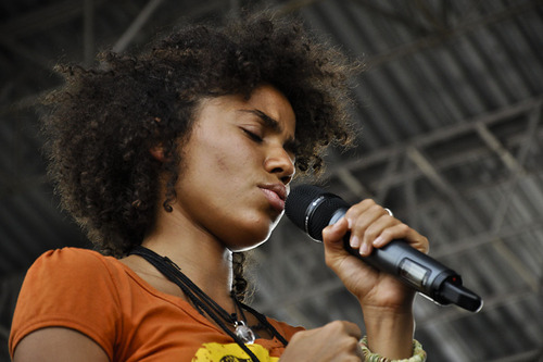 Nneka at the Roots Picnic on June 5, 2010