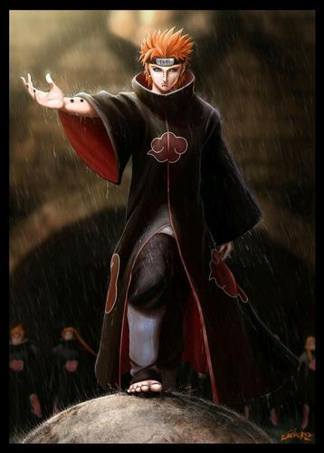 Naruto hình nền possibly with a surcoat, áo lót called Pain