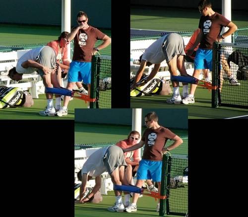 Rafa Maymo admires Rafa Nadal ass!