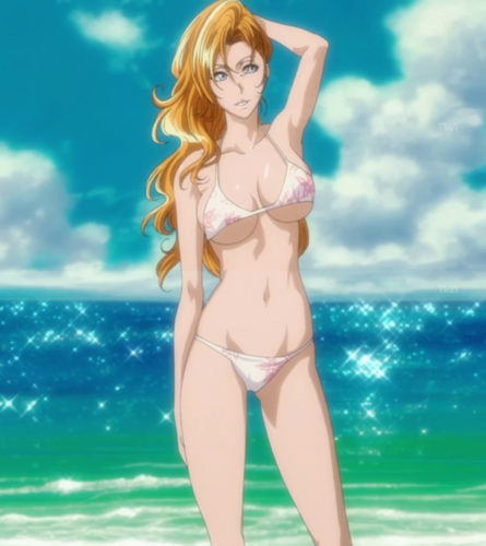 anime ya Bleach karatasi la kupamba ukuta containing a bikini called Rangiku