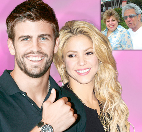 Shakira His parents traveled to Spain to meet Piqué ... ! And were fascinated with him....