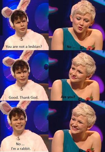 Simon Amstell & Stine Bramsen (Never Mind the Buzzcocks).