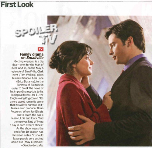 smallville - as aventuras do superboy - EW - First Look Magazine Scan