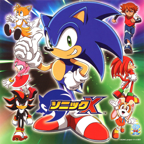Sonic X karatasi la kupamba ukuta probably with anime titled Sonic X