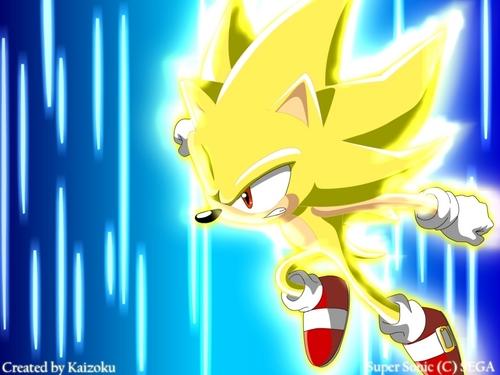 Sonic X karatasi la kupamba ukuta titled Super Sonic!!!!!!!
