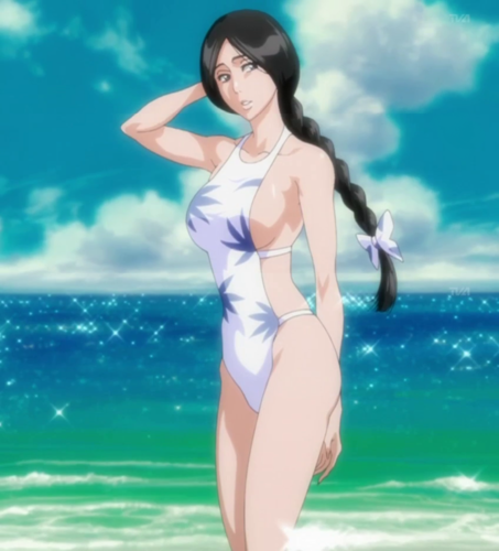 死神 动漫 壁纸 probably with a bikini, a maillot, and a 泳装, 游泳衣 called Unohana