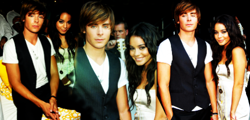 Vanessa Anne Hudgens and Zac Efron