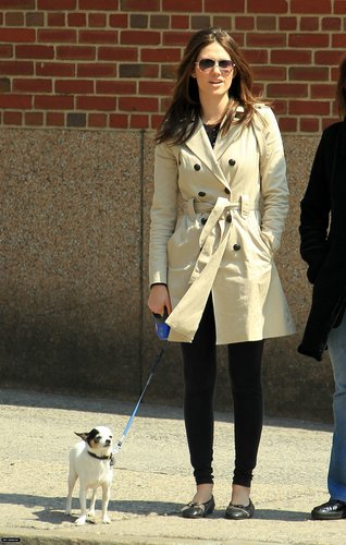 Walking Her Dog - April 9
