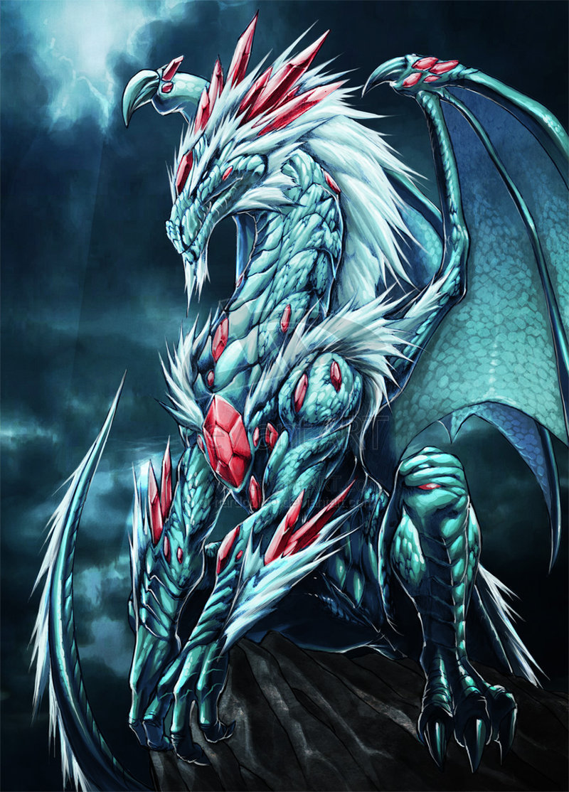 White jewels Dragon