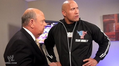 "Dwayne ""The Rock"" Johnson wallpaper titled Wrestlemania 27 April 3,2011"