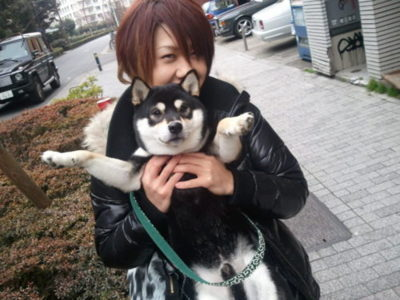 Yuji and a cute dog