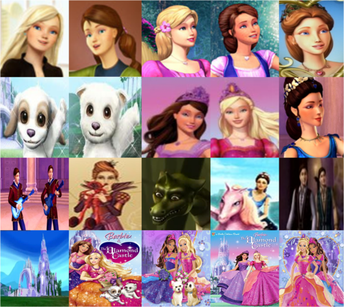 Barbie-Filme Hintergrund called Barbie and the diamond schloss characters Von coolgirl15