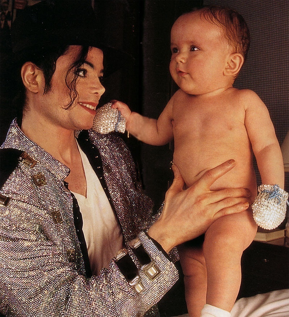 michael with baby prince,queen_gina