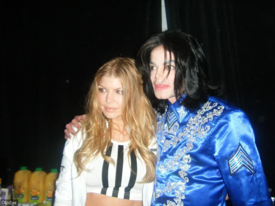 michael with fergie,queen_gina
