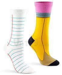 pencil and paper socks