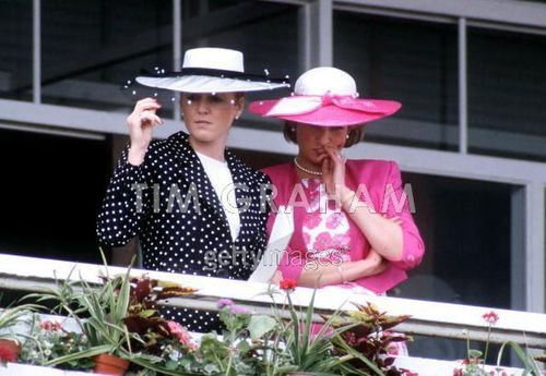 Diana, Princess Of Wales And Sarah, Duchess Of York Attending The Derby