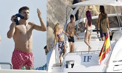 Piqué monitors telescope Shakira in August 2010...