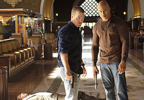 NCIS: Los Angeles 壁纸 probably with a street, a bullterrier, and a business suit entitled 1x12-Past Lives-promos