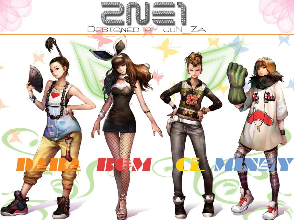 2ne1 Kpop Girl Power Wallpaper 20907152 Fanpop