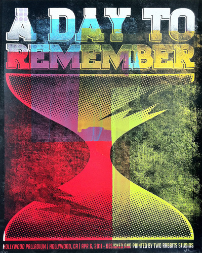 A día To Remember Rock Poster