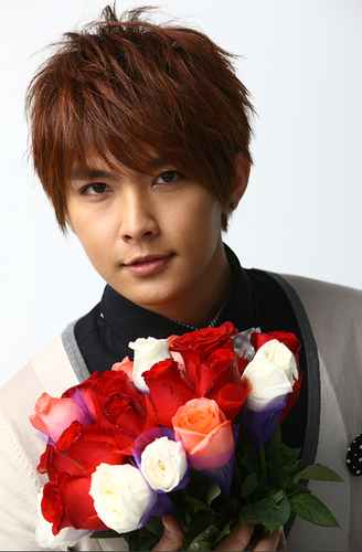 Aaron Yan wallpaper containing a bouquet entitled Aaron Yan