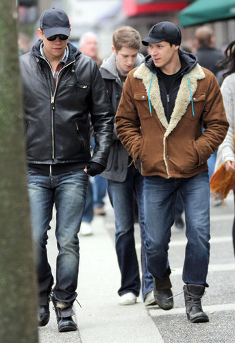 Alex Meraz And Chaske Spencer Out And About In Vancouver