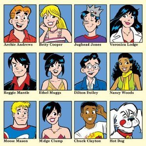 Archie,Betty,veronica and फ्रेंड्स