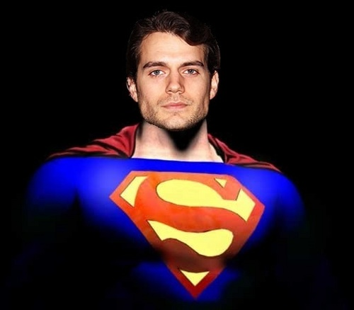 Artist Rendering of Cavill as Superman