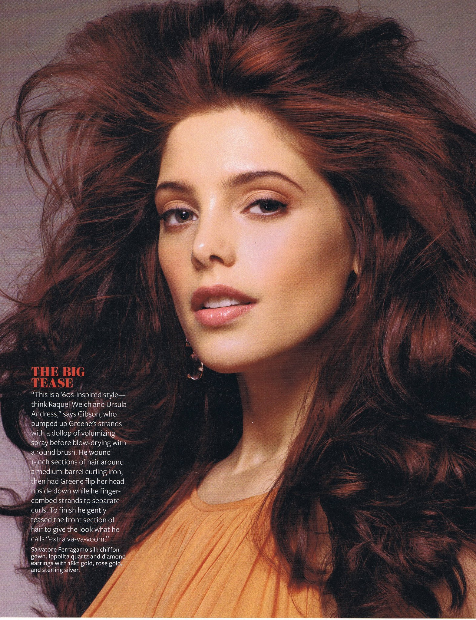 images Ashley Greene Covers InStyle Hair 2011