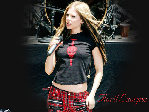 Avril Lavigne پیپر وال probably with a hip boot, گرم پتلون, hot pants, گرم, شہوت انگیز پتلون, and a کاک, کاکٹیل dress entitled Avril Lavigne