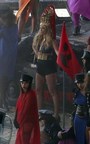 Beyonce: Music Video Shoot in Los Angeles!