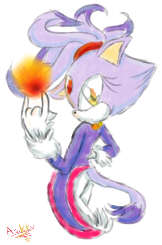 Blaze The Purple Cat