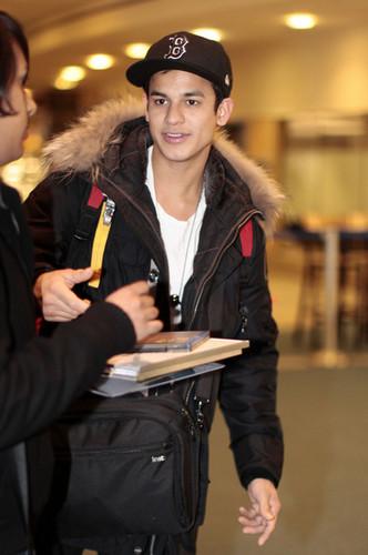 Bronson Pelletier Arriving At Vancouver Airport