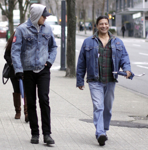 Chaske Spencer And Gil Birmingham Out And About In Vancouver