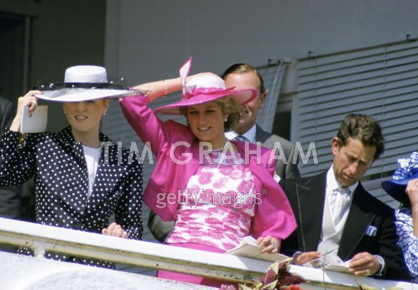 Diana And Sarah Ferguson At Derby