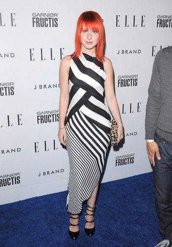 Hayley Williams wallpaper probably containing a cocktail dress and a chemise titled At Elle's Women In Music Concert