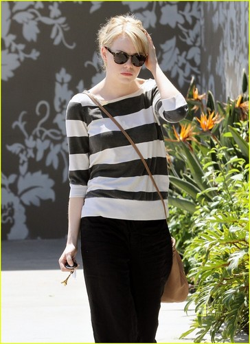 Emma Stone Shows Her Stripes
