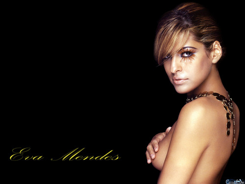 Eva Mendes wallpaper probably containing skin and a portrait called Eva Mendes