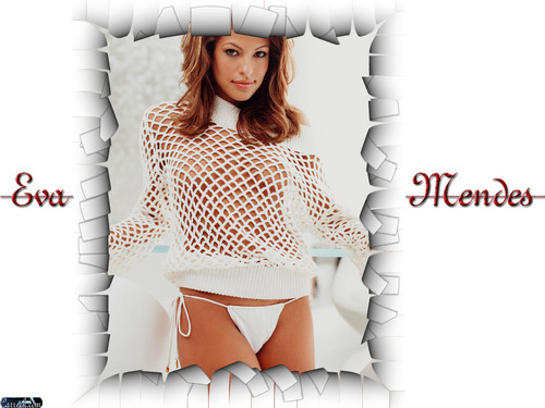eva mendes wallpaper probably containing a hip boot, a playsuit, and a legging entitled Eva Mendes