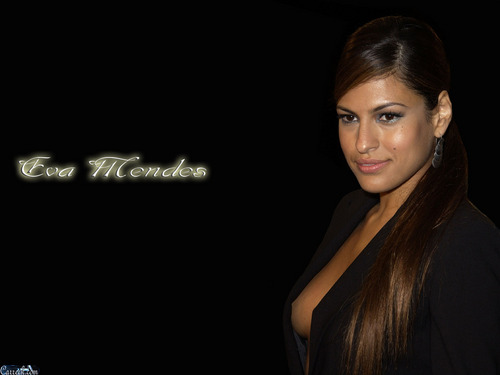 Eva Mendes wallpaper probably with a cocktail dress, attractiveness, and a portrait entitled Eva Mendes