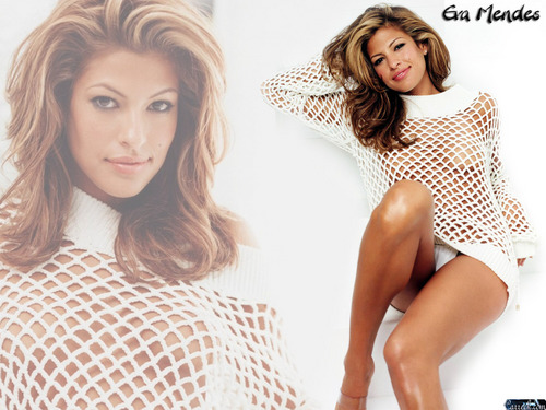 eva mendes wallpaper possibly containing a chemise and a portrait titled Eva Mendes