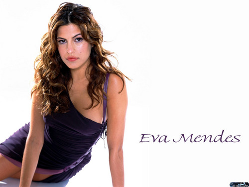 Eva Mendes wallpaper probably with a cocktail dress and a portrait entitled Eva Mendes