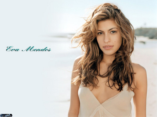 एवा मेंडिस वॉलपेपर probably containing attractiveness and a portrait titled Eva Mendes