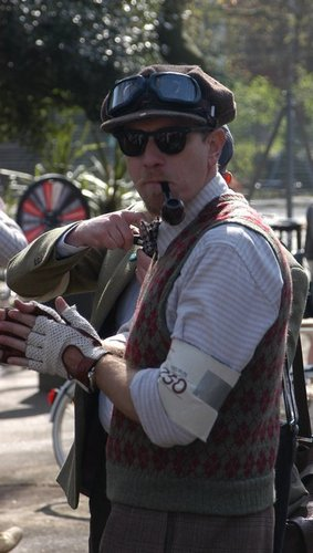 Ewan at Tweed run, ロンドン