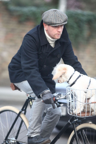 Ewan with his dog Sid