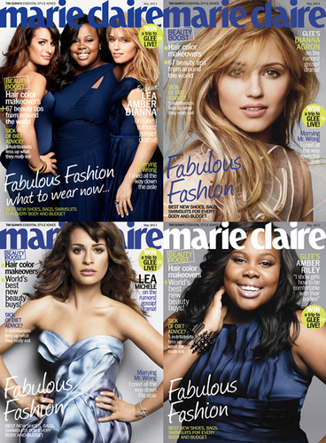 glee/グリー Girls marie claire covers