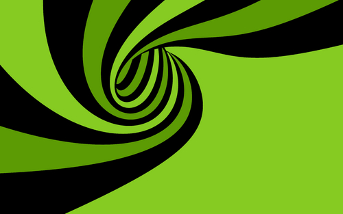 Green wallpaper titled Green Spiral wallpaper
