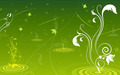Green Swirls Wallpaper - green wallpaper