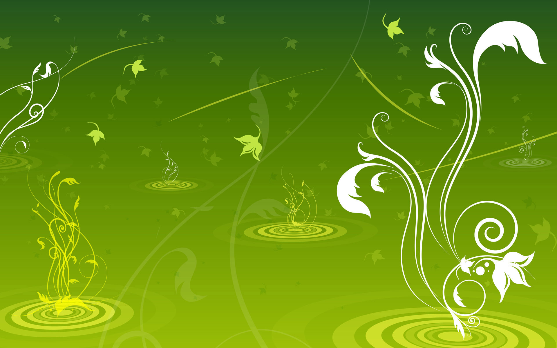 Green swirls wallpaper green wallpaper 20988856 fanpop for Green design