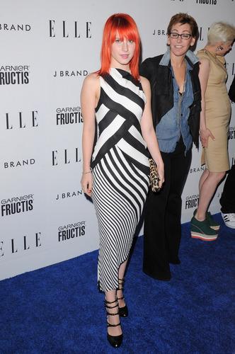 Hayley attending Elle's Women In muziek concert